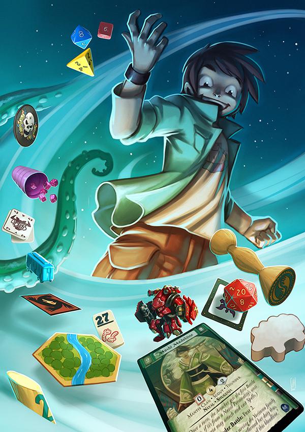 Illustration réalisée pour le club Objectif Jeux par © Jonathan Hartre